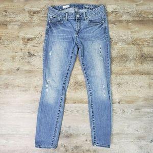 Gap 1969 Always Skinny Distressed Cropped Jeans